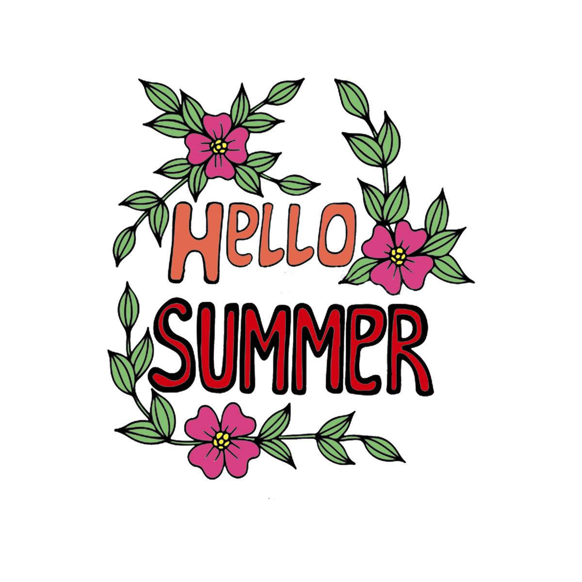 Рисунки привет лето