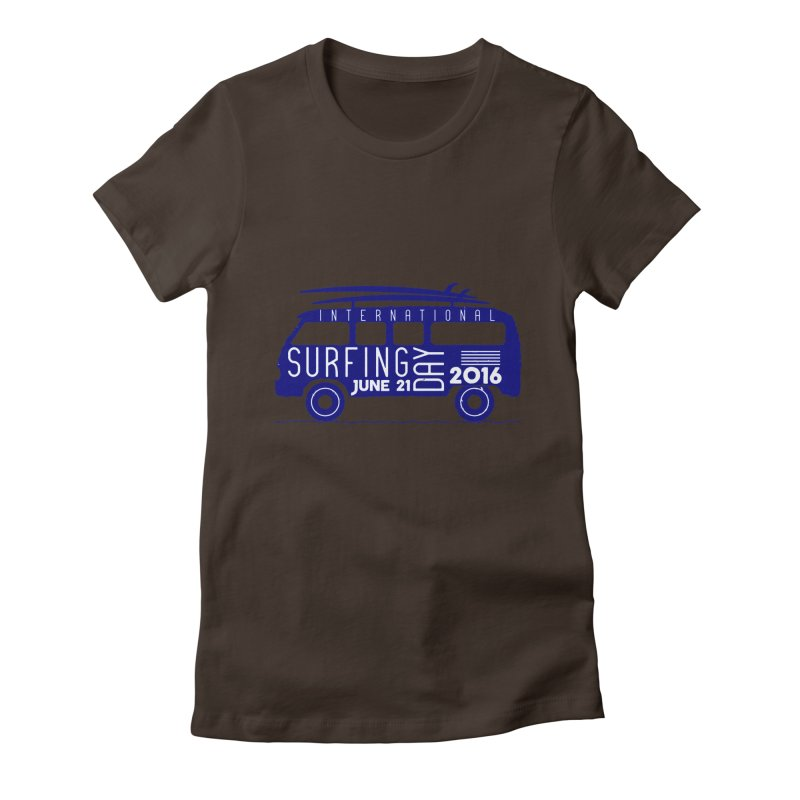 International Surfing Day Women's Fitted T-Shirt by artworkdealers Artist Shop