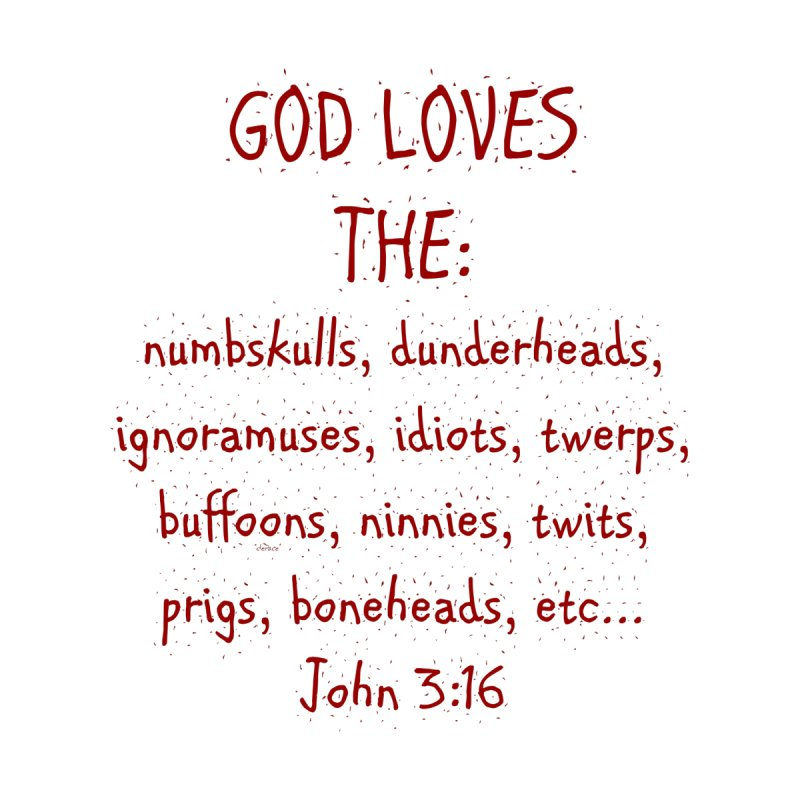 GOD Loves Women's V-Neck by artworkdealers Artist Shop
