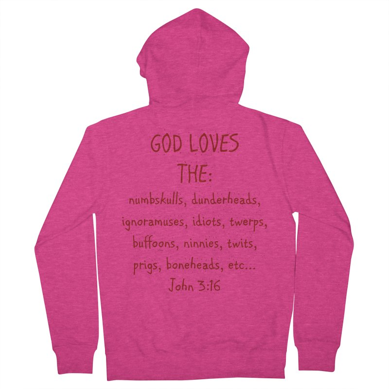 GOD Loves Women's French Terry Zip-Up Hoody by artworkdealers Artist Shop