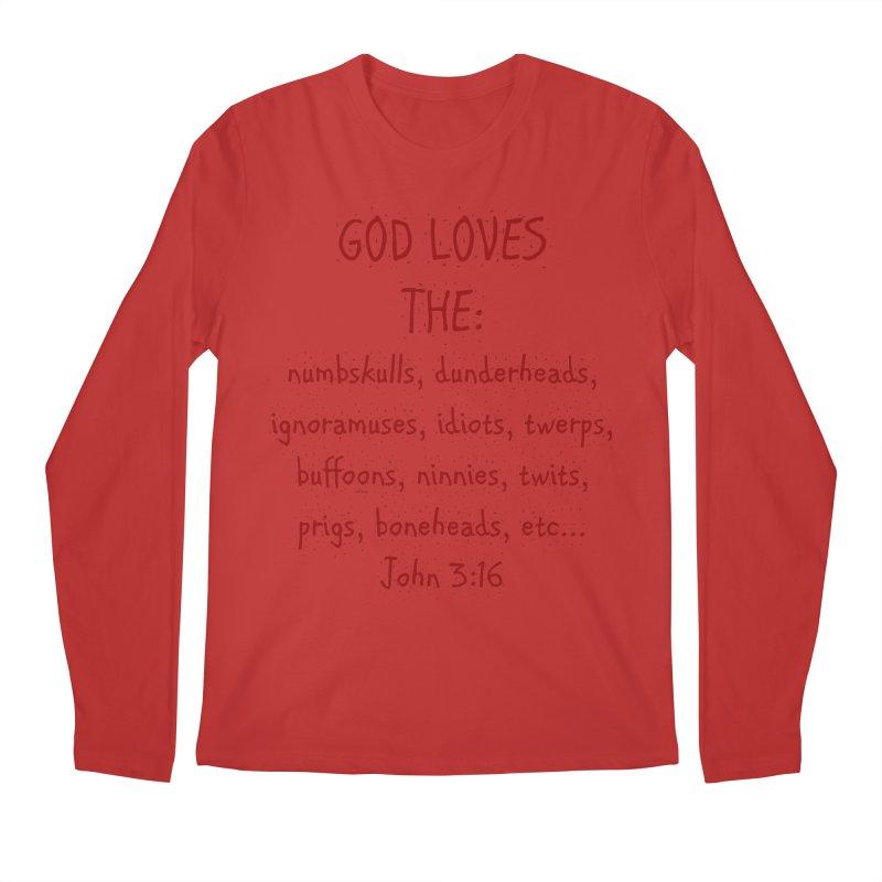 GOD Loves Men's Regular Longsleeve T-Shirt by artworkdealers Artist Shop
