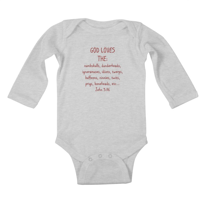 GOD Loves Kids Baby Longsleeve Bodysuit by artworkdealers Artist Shop