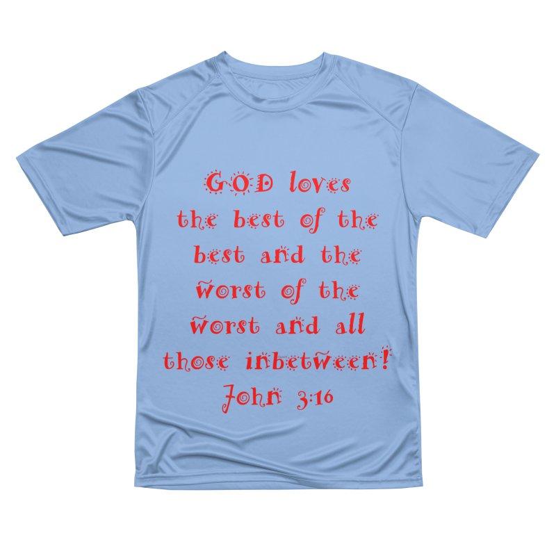 GOD Loves us Women's Performance Unisex T-Shirt by artworkdealers Artist Shop