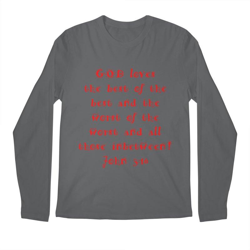 GOD Loves us Men's Regular Longsleeve T-Shirt by artworkdealers Artist Shop