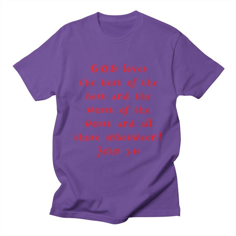 GOD Loves us Men's Regular T-Shirt by artworkdealers Artist Shop