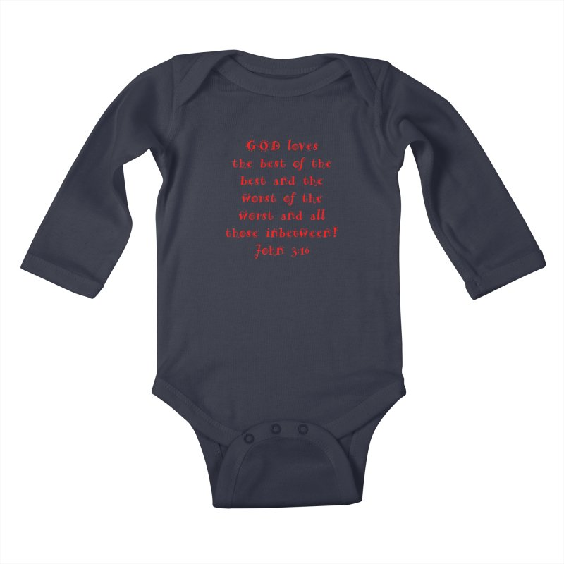 GOD Loves us Kids Baby Longsleeve Bodysuit by artworkdealers Artist Shop