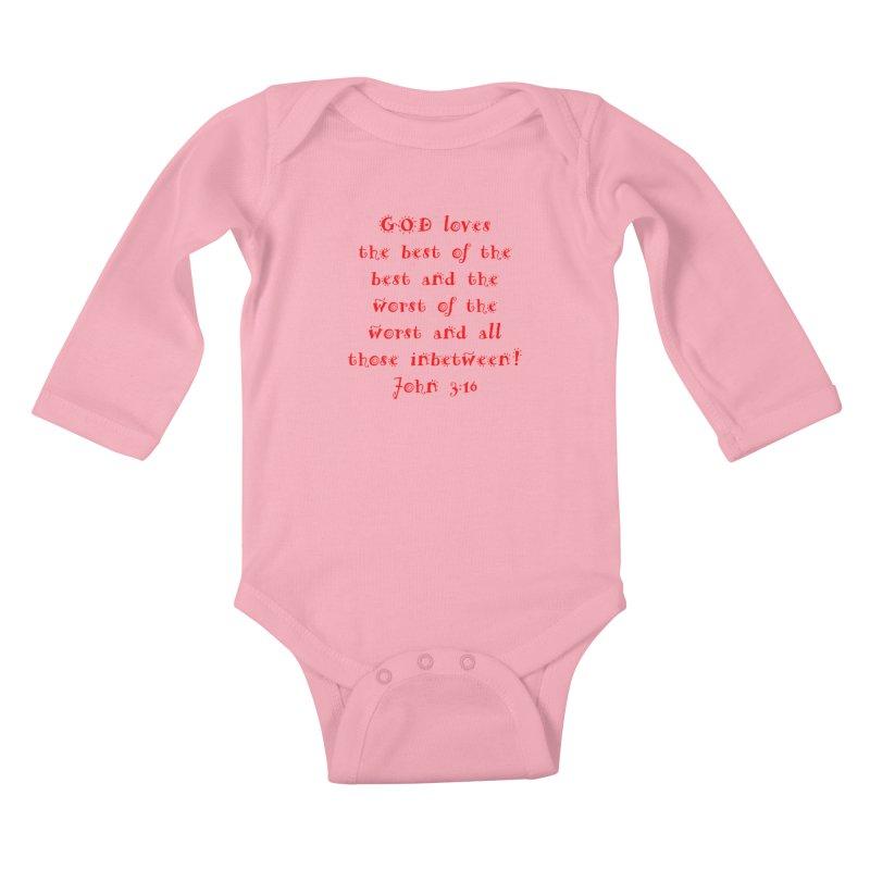 GOD Loves us Kids Baby Longsleeve Bodysuit by artworkdealers Artist Shop
