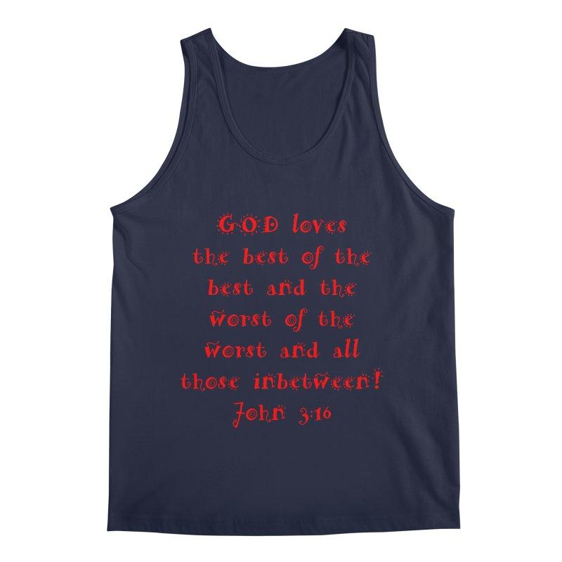 GOD Loves us Men's Regular Tank by artworkdealers Artist Shop