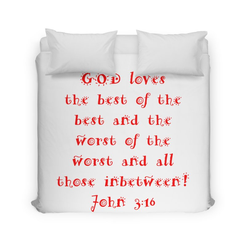 GOD Loves us Home Duvet by artworkdealers Artist Shop