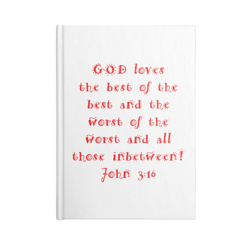 GOD Loves us Accessories Lined Journal Notebook by artworkdealers Artist Shop