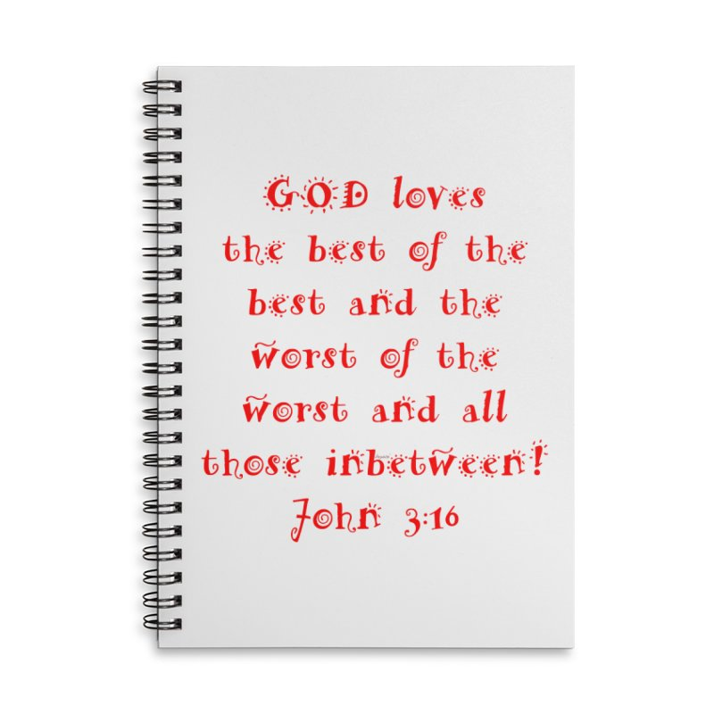 GOD Loves us Accessories Lined Spiral Notebook by artworkdealers Artist Shop