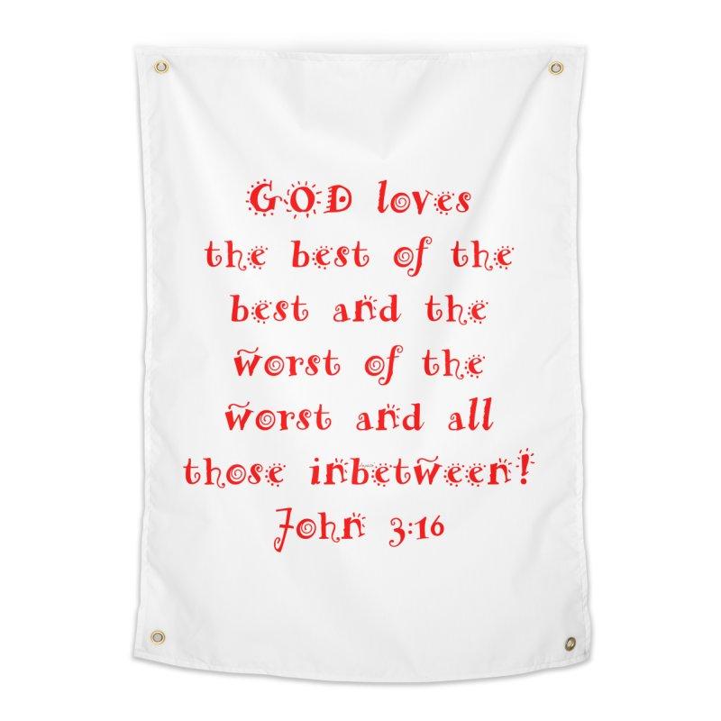 GOD Loves us Home Tapestry by artworkdealers Artist Shop