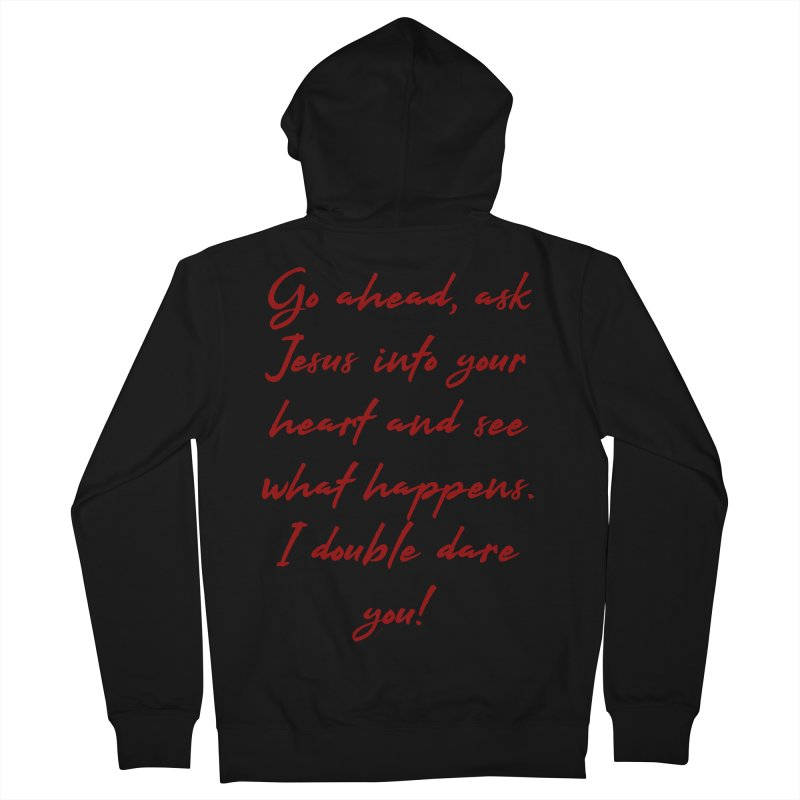 I double dare you Men's French Terry Zip-Up Hoody by artworkdealers Artist Shop
