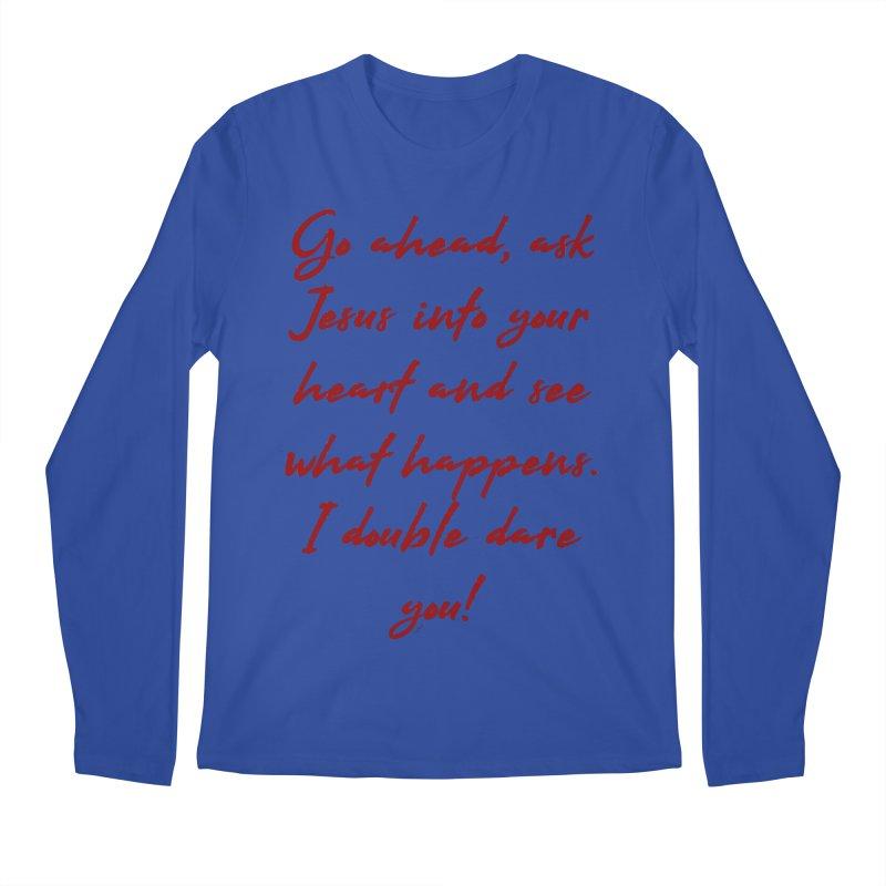 I double dare you Men's Regular Longsleeve T-Shirt by artworkdealers Artist Shop