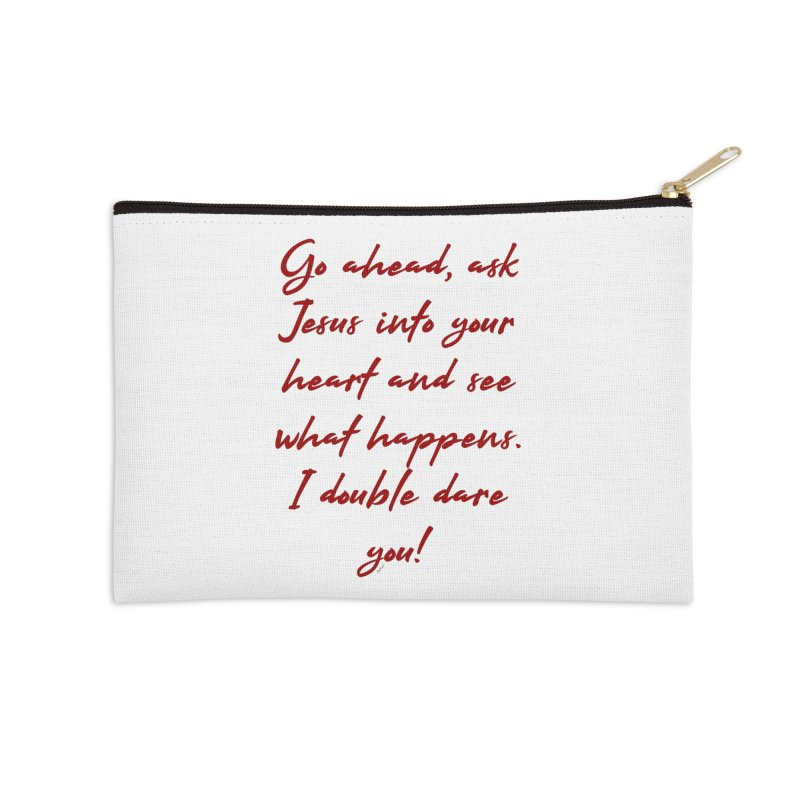I double dare you Accessories Zip Pouch by artworkdealers Artist Shop