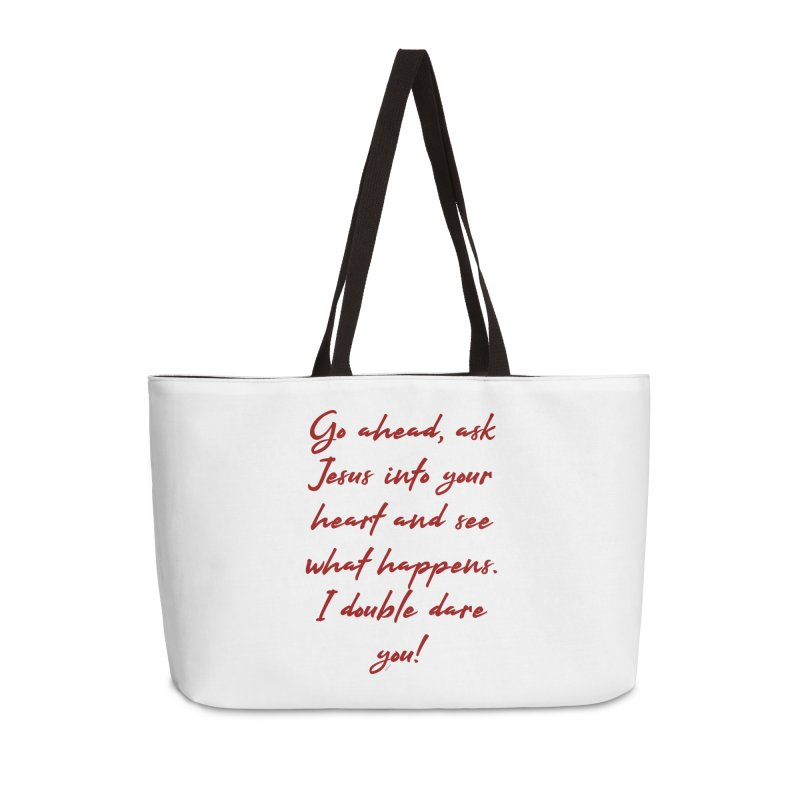 I double dare you Accessories Weekender Bag Bag by artworkdealers Artist Shop