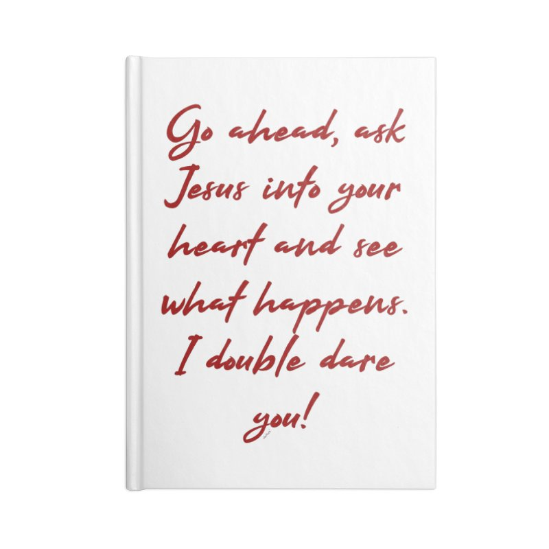 I double dare you Accessories Lined Journal Notebook by artworkdealers Artist Shop