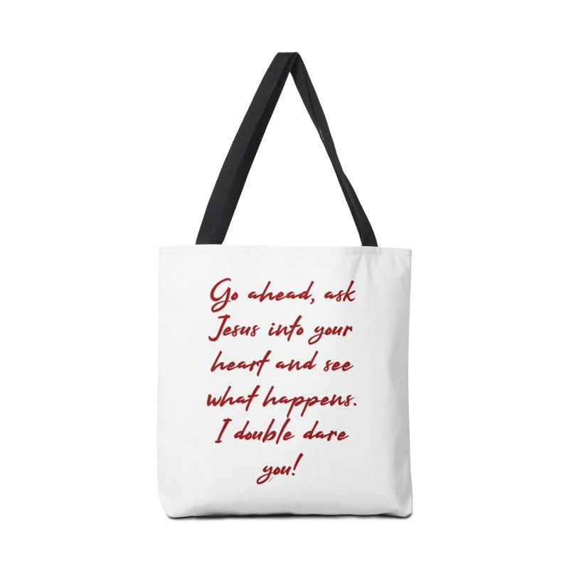 I double dare you Accessories Tote Bag Bag by artworkdealers Artist Shop