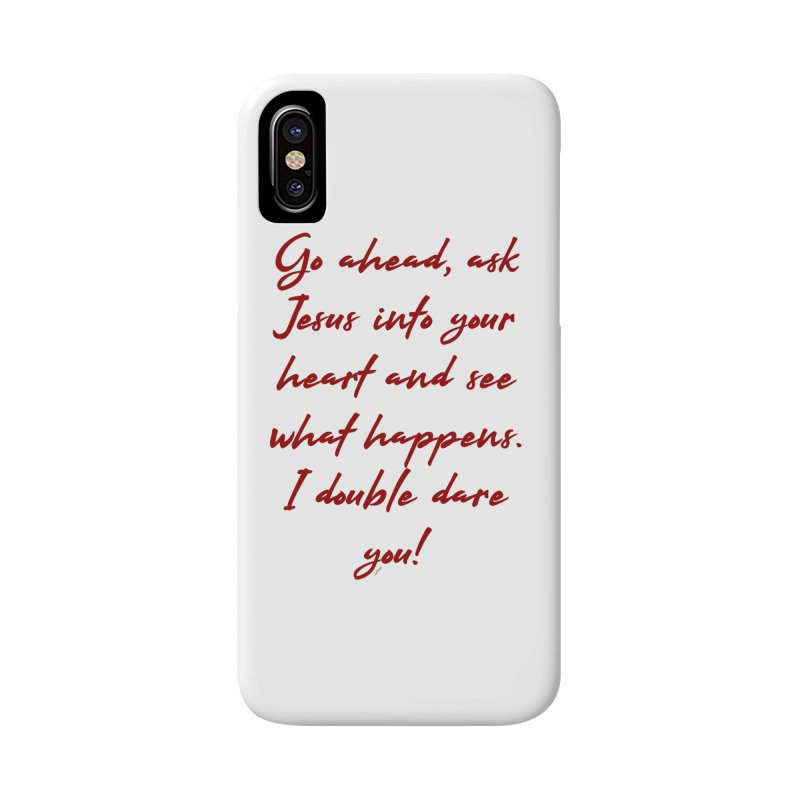 I double dare you Accessories Phone Case by artworkdealers Artist Shop