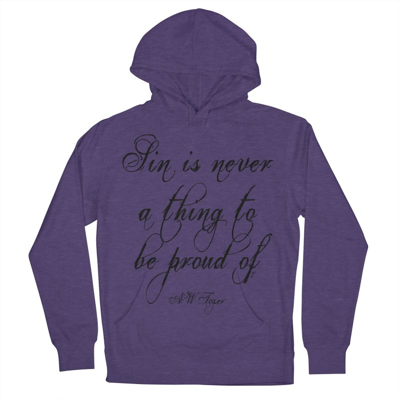 Sin is never a thing to be proud of Women's French Terry Pullover Hoody by artworkdealers Artist Shop