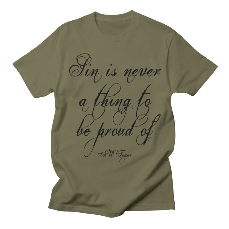 Sin is never a thing to be proud of Women's Regular Unisex T-Shirt by artworkdealers Artist Shop
