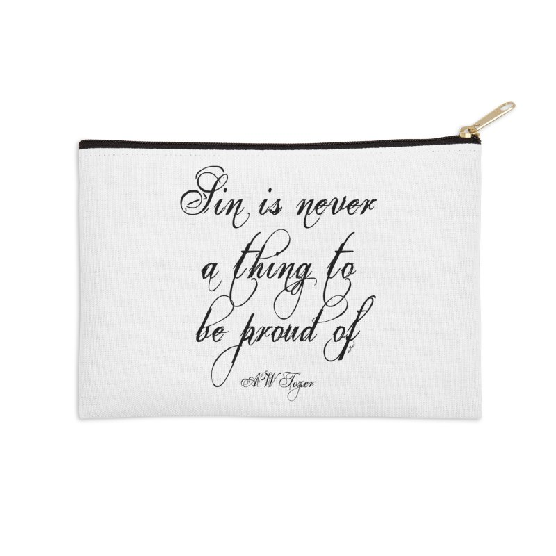 Sin is never a thing to be proud of Accessories Zip Pouch by artworkdealers Artist Shop