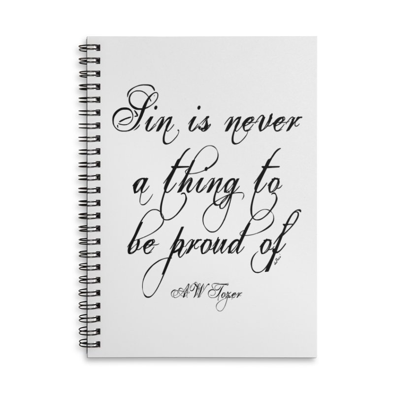 Sin is never a thing to be proud of Accessories Lined Spiral Notebook by artworkdealers Artist Shop