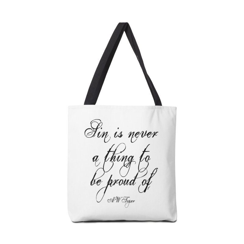 Sin is never a thing to be proud of Accessories Tote Bag Bag by artworkdealers Artist Shop