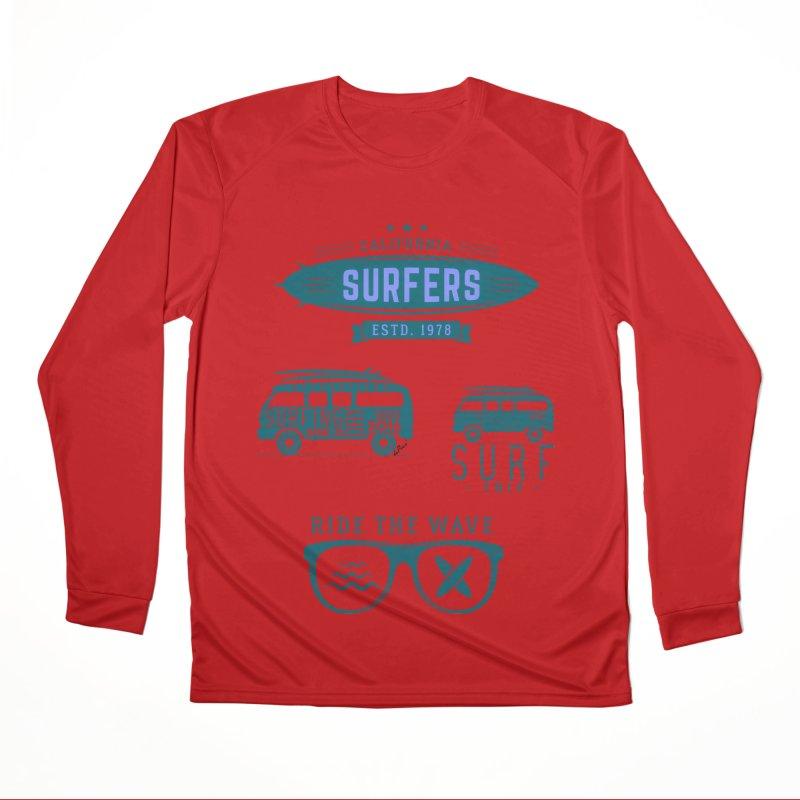 Certified Surfing Nut Men's Performance Longsleeve T-Shirt by artworkdealers Artist Shop