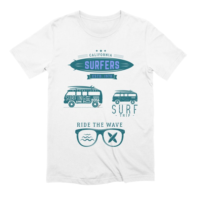 Certified Surfing Nut Men's Extra Soft T-Shirt by artworkdealers Artist Shop