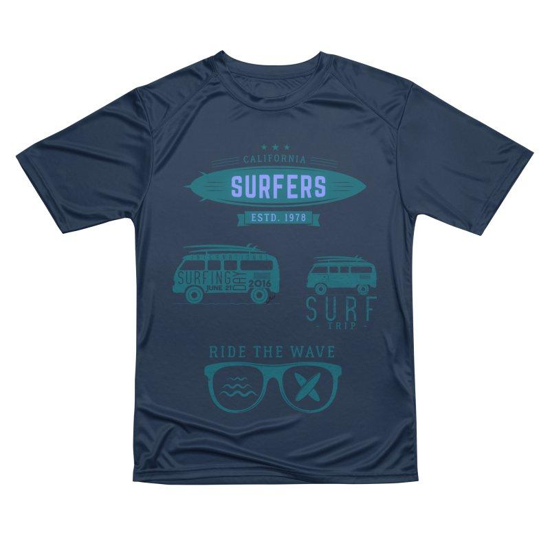 Certified Surfing Nut Men's Performance T-Shirt by artworkdealers Artist Shop