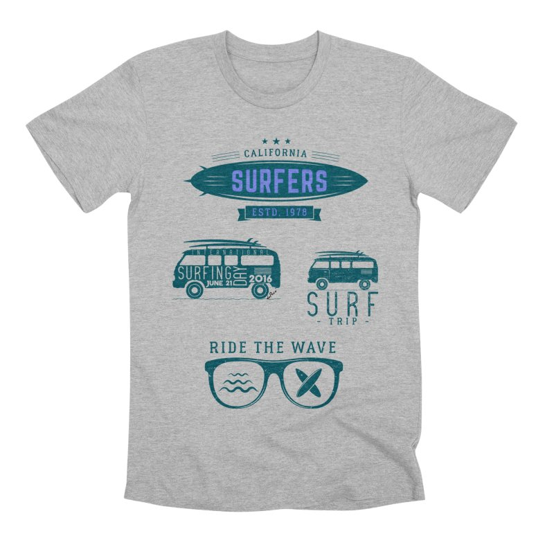 Certified Surfing Nut Men's Premium T-Shirt by artworkdealers Artist Shop