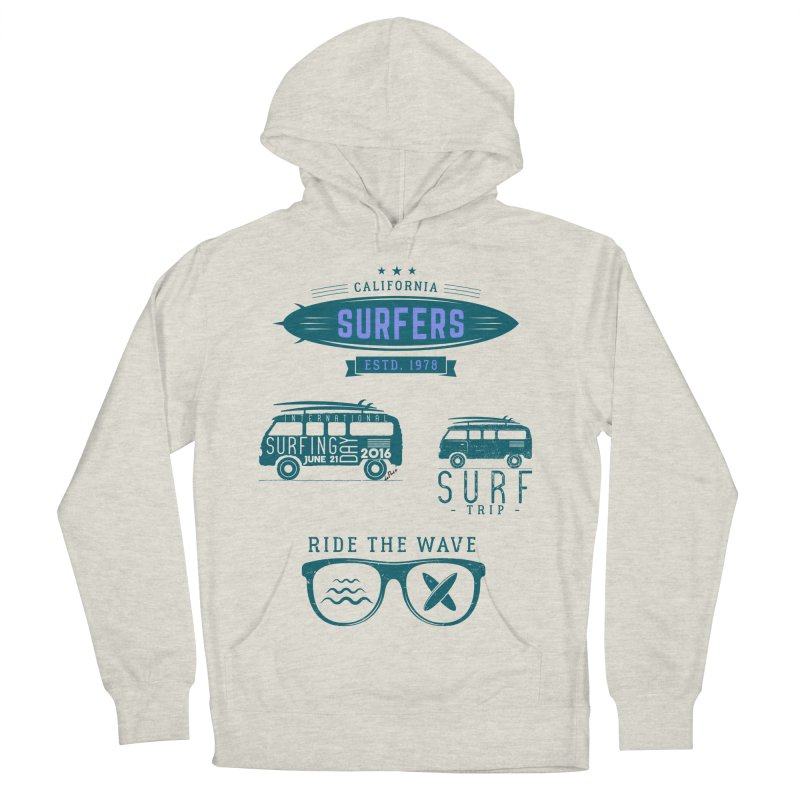 Certified Surfing Nut Women's French Terry Pullover Hoody by artworkdealers Artist Shop