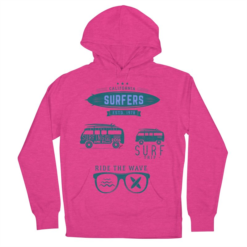 Certified Surfing Nut Men's French Terry Pullover Hoody by artworkdealers Artist Shop
