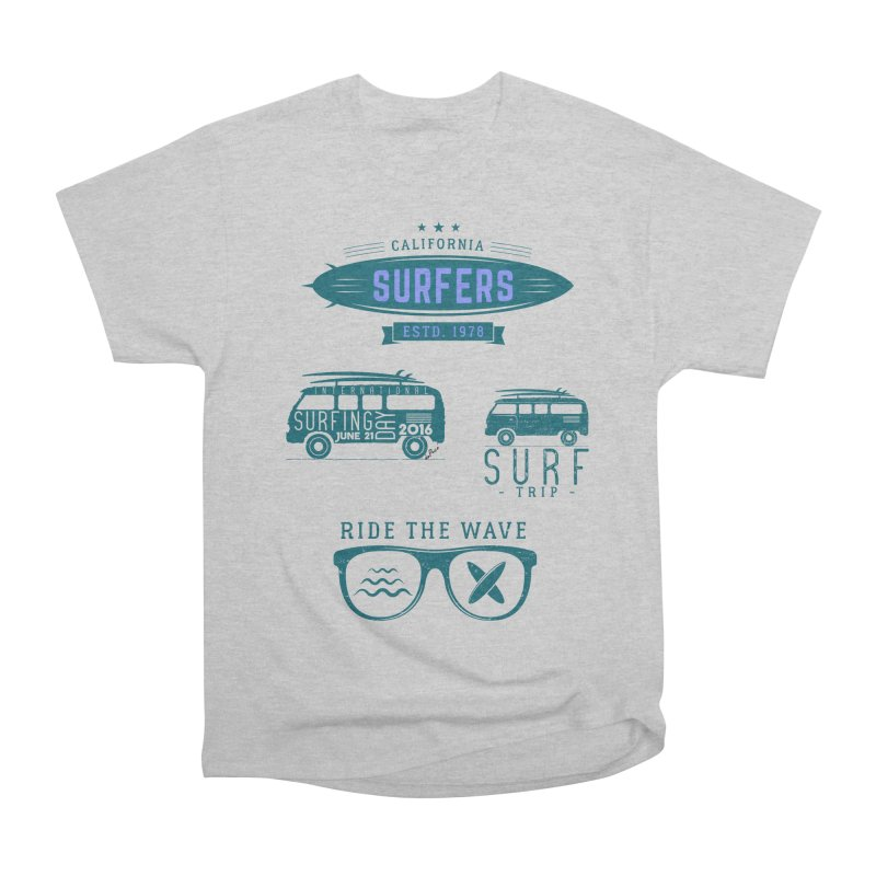 Certified Surfing Nut Men's Heavyweight T-Shirt by artworkdealers Artist Shop