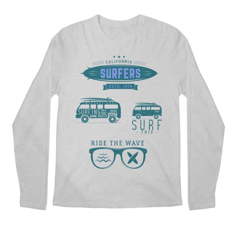 Certified Surfing Nut Men's Regular Longsleeve T-Shirt by artworkdealers Artist Shop