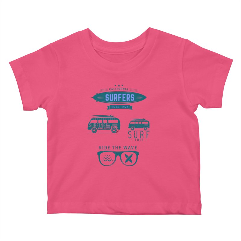 Certified Surfing Nut Kids Baby T-Shirt by artworkdealers Artist Shop