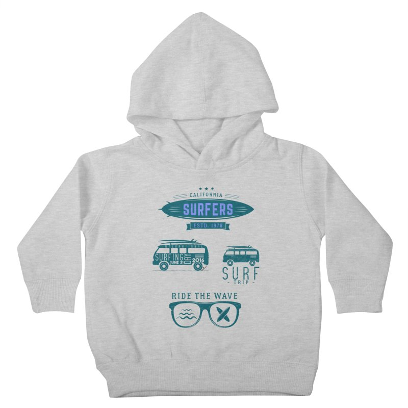 Certified Surfing Nut Kids Toddler Pullover Hoody by artworkdealers Artist Shop