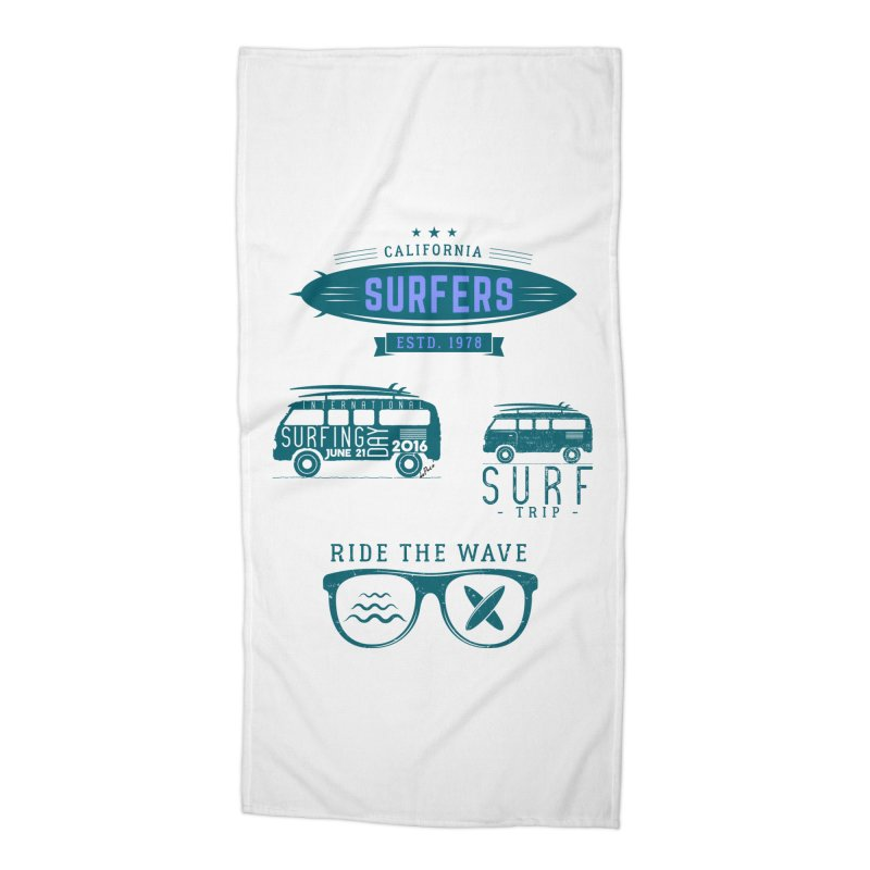 Certified Surfing Nut Accessories Beach Towel by artworkdealers Artist Shop