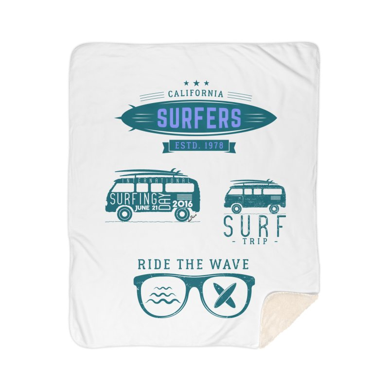 Certified Surfing Nut Home Sherpa Blanket Blanket by artworkdealers Artist Shop