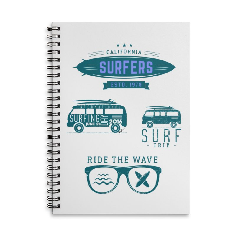 Certified Surfing Nut Accessories Lined Spiral Notebook by artworkdealers Artist Shop