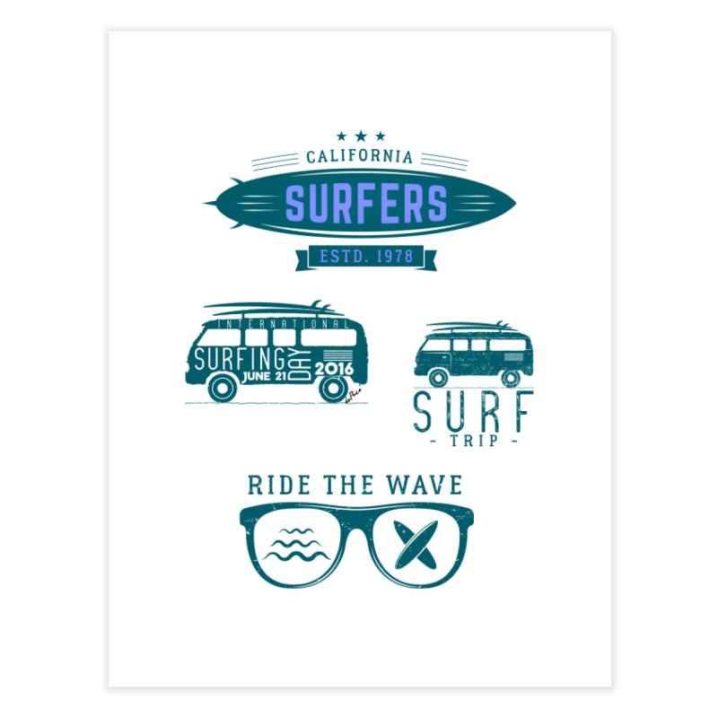 Certified Surfing Nut Home Fine Art Print by artworkdealers Artist Shop