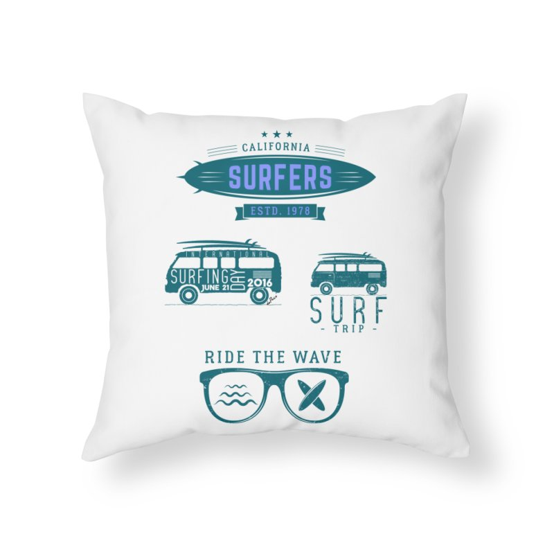Certified Surfing Nut Home Throw Pillow by artworkdealers Artist Shop
