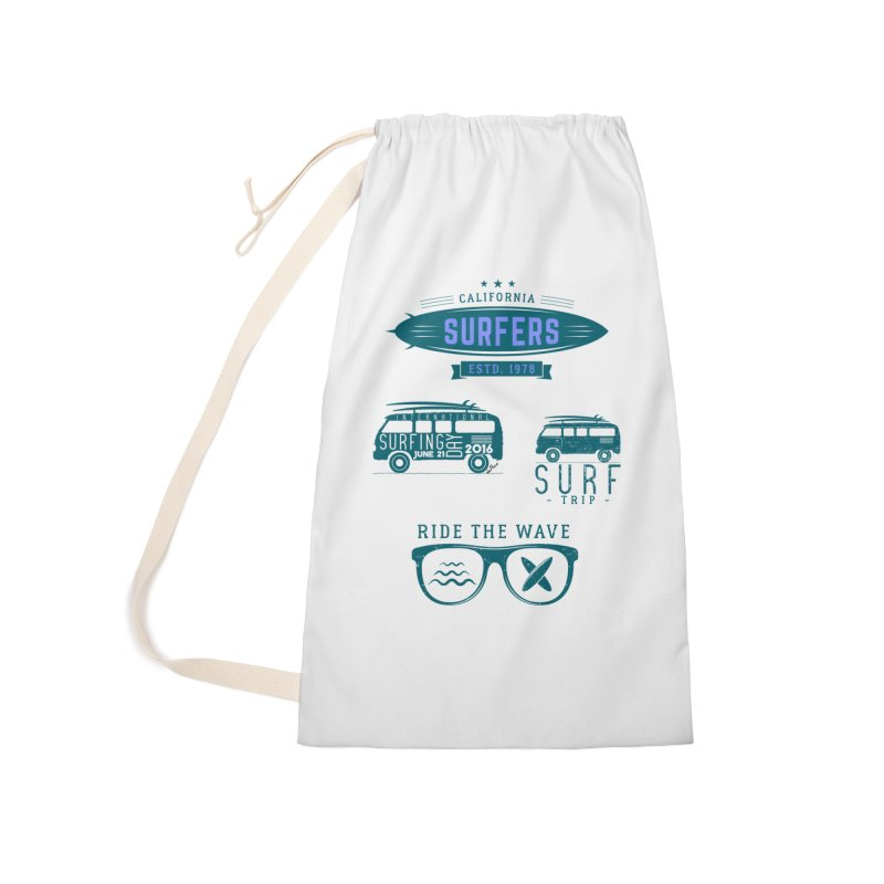 Certified Surfing Nut Accessories Laundry Bag Bag by artworkdealers Artist Shop