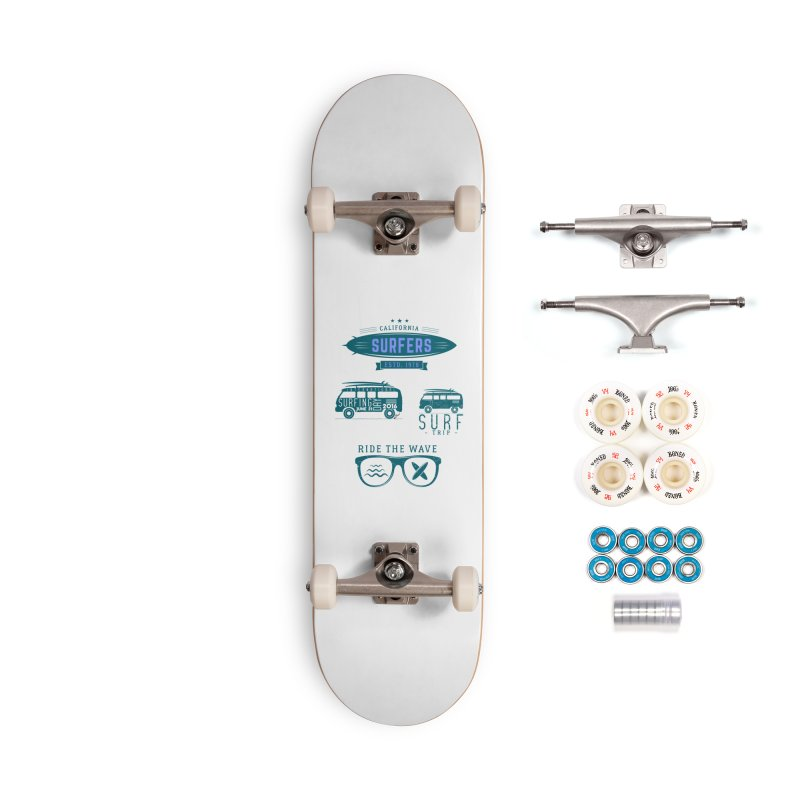 Certified Surfing Nut Accessories Complete - Premium Skateboard by artworkdealers Artist Shop
