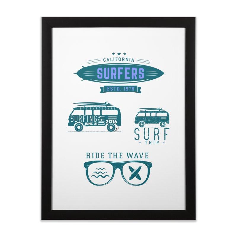 Certified Surfing Nut Home Framed Fine Art Print by artworkdealers Artist Shop