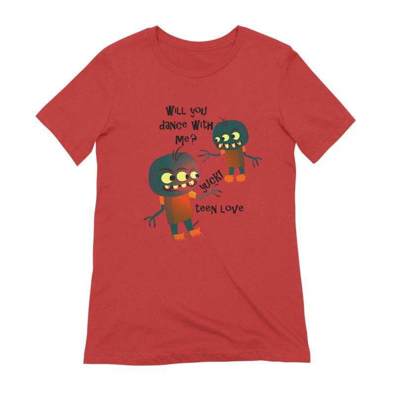 True Teen Love Women's Extra Soft T-Shirt by artworkdealers Artist Shop