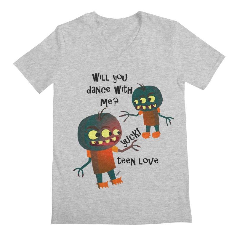 True Teen Love Men's Regular V-Neck by artworkdealers Artist Shop