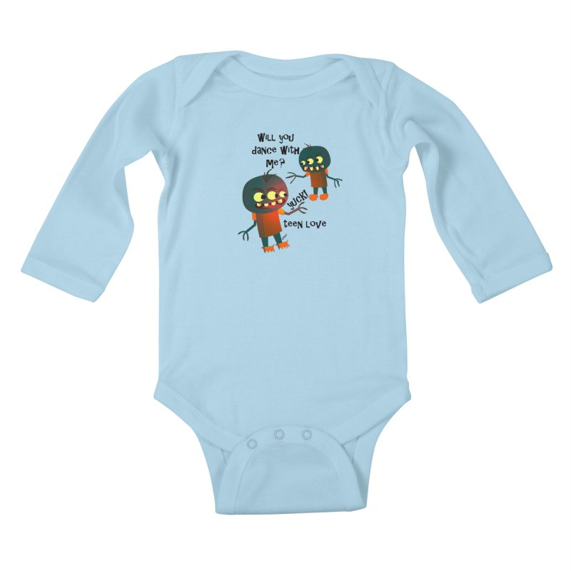 True Teen Love Kids Baby Longsleeve Bodysuit by artworkdealers Artist Shop