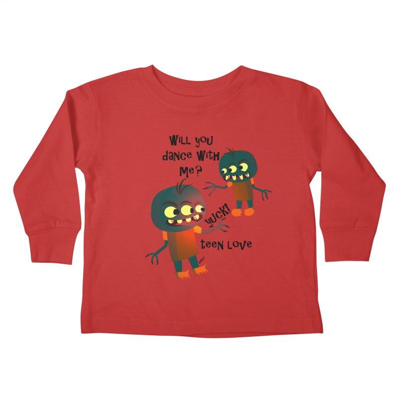 True Teen Love Kids Toddler Longsleeve T-Shirt by artworkdealers Artist Shop
